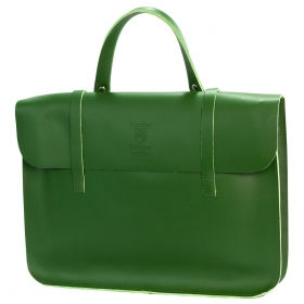 Montford Leather Music Case - Olive Green