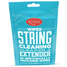 Kyser Care String Cleaner and Lubricant Wipes x10