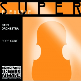 SuperFlexible Double Bass String SOLO SET. Chrome Wound 4/4