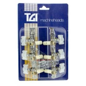TGI Machineheads. Classical 3 in a Line. Lyra Style. Nickel