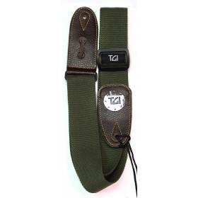 TGI Guitar Strap Woven Green