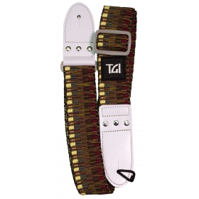 TGI Guitar Strap Woven Cotton Beige