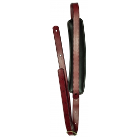 TGI Guitar Strap Vintage Style Red Leather