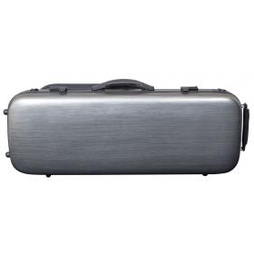 Hidersine Viola Case - Polycarbonate Oblong Brushed Silver