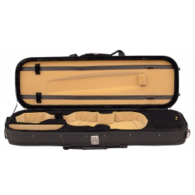 Hidersine Violin Case 4/4 Light Oblong - Black