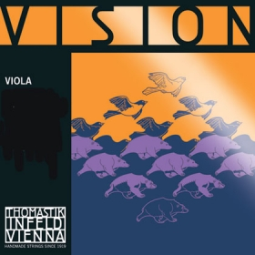 Vision Viola String D. Synthetic Core Silver Wound 4/4