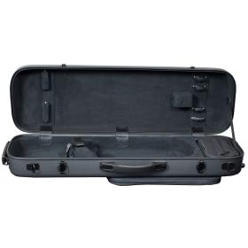 Hidersine Violin Case - Polycarbonate Oblong Carbon Fibre Effect