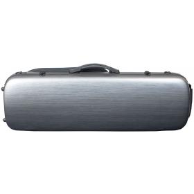 Hidersine Violin Case - Polycarbonate Oblong Brushed Silver