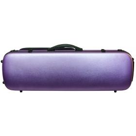 Hidersine Violin Case - Polycarbonate Oblong Brushed Purple