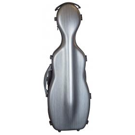 Hidersine Violin Case - Polycarbonate Gourd Brushed Silver