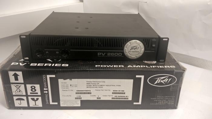 Peavey PV 2600 Power Amp- B-Grade CL1094