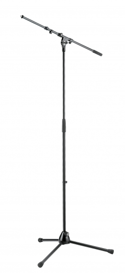 K&M MicrophoneStand Extendable Boom Topline Compact Black