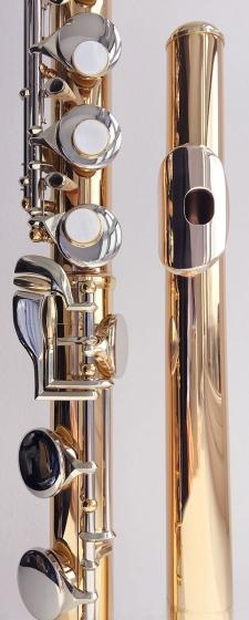 Trevor James Performer Alto Flute Outift. Silver Lip Riser - Copper Body