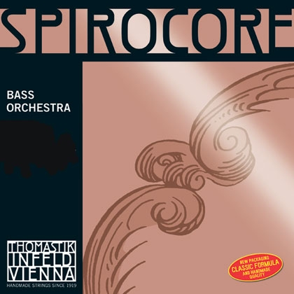 Spirocore Double Bass String D. Chrome Wound 1/4