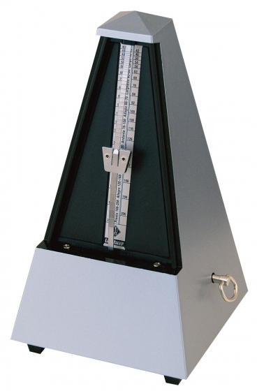Wittner Metronome Plastic Silver. With Bell