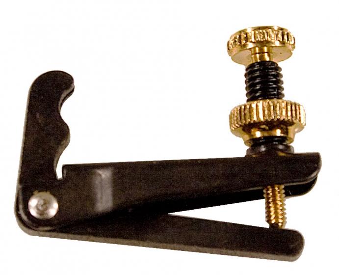 Wittner Viola String Adjuster. Black with Gold Screws